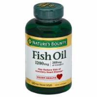 Nature's Bounty Fish Oil Softgels 1200mg 120 Count