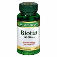 Nature's Bounty Biotin Softgels 5000mcg 72 Count