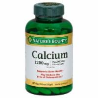 Nature's Bounty Calcium Vitamin D3 Softgels 25mcg 120 Count - 120 ct