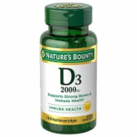 Nature's Bounty D3 Softgels 50mcg 150 Count