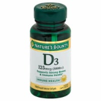 Nature's Bounty D3 Softgels 125mcg 150 Count
