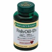 Nature's Bounty Fish Oil 1200mg + D3 25mcg (1000IU) Softgels