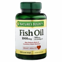 Nature's Bounty Fish Oil Omega-3 Coated Softgels 1000mg 120 Count