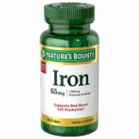 Nature's Bounty Iron Tablets 65mg