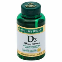 Nature's Bounty Vitamin D3 Softgels 2000 IU