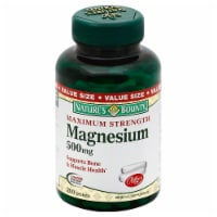 Nature's Bounty Magnesium Tablets 500mg