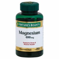 Nature's Bounty Magnesium Softgels 400mg