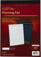 Ampad Gold Fibre Quad/Narrow Ruled Planning Pad - 8.5 x 11.75 - 80 Sheet - White