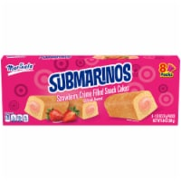 Marinela Submarinos Strawberry Creme Filled Snack Cakes - 8 ct / 1.23 oz