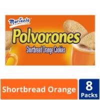 Marinela Polvorones Shortbread Orange Cookies 8 Count