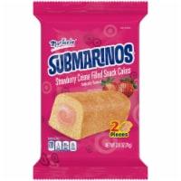 Marinela Submarinos Strawberry Creme Filled Snack Cakes - 2.47 oz
