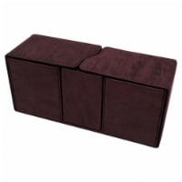 Ultra Pro ULP85896 Deck Box-Alcove Vault Suede Ruby Card Accessories - 1