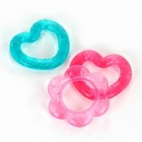 Bright Starts Pretty in Pink Chill and Teethe Infant Teething Ring - Pink/Blue