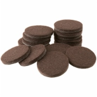 Softtouch® by Waxman Self-Stick Felt Pads - 1 in - Black
