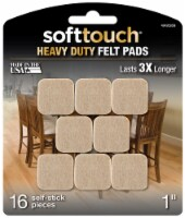 SoftTouch Heavy Duty Outdoor Felt Pads - 16 pc - Oatmeal