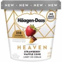 Haagen-Dazs Heaven Strawberry Chocolate Waffle Cone Light Ice Cream