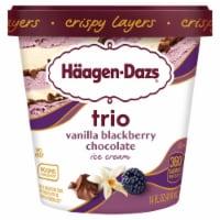 Haagen-Dazs Vanilla & Blackberry Belgian Chocolate Trio Crispy Layers Ice Cream