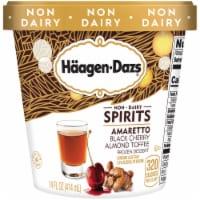 Haagen-Dazs Non-Dairy Spirits Amaretto Black Cherry Almond Toffee Ice Cream