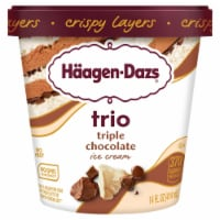 Haagen-Dazs White & Milk Chocolate Trio Crispy Belgian Chocolate Layers Ice Cream