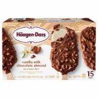 Haagen-Dazs Vanilla Milk Chocolate Almond Ice Cream Bars - 15 ct / 3 oz