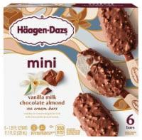 Haagen-Dazs Vanilla Milk Chocolate Almond Snack Size Ice Cream Bars 6 Count