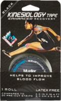 Mueller Pre-Cut Enhanced Recovery Kinesiology Tape - Black