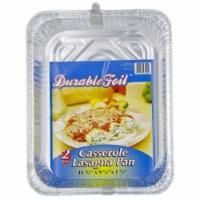Durable Foil 2 Count Aluminum Casserole Lasagna Pan  D43020 - Pack of 12 - 12