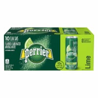 Perrier Lime Flavored Carbonated Mineral Water 10 Count