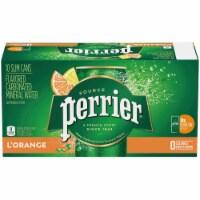 Rerrier L'Orange Sparkling Natural Mineral Bottled Water 10 Bottles