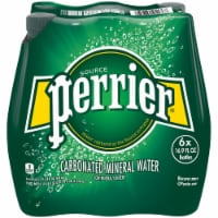 Perrier Sparkling Natural Mineral Water 6 Count