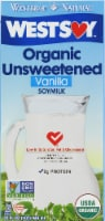 WestSoy Unsweetened Vanilla Soy Milk