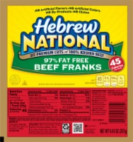 Hebrew National 97% Fat Free Beef Franks