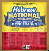Hebrew Reduced Fat Beef Franks