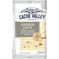Cache Valley Pepper Jack Cheese Slices 10 Count