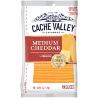 Cache Valley Medium Cheddar Cheese Slices 10 Count