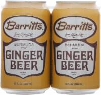 Barritt's Ginger Beer 4 Pack - 4 ct / 12 fl oz