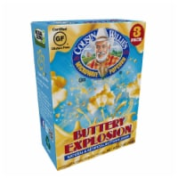Cousin Willie's Buttery Explosion Movie Theater Extra Butter Popcorn 3 Count