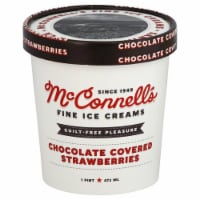 McConnell's Chocolate Covered Strawberry Ice Cream - 1 Pt