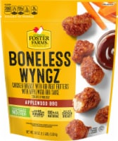 Foster Farms Applewood BBQ Boneless Wyngz Chicken Breast with Rib Meat Fritters