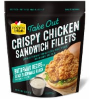 Foster Farms Take-Out Crispy Chicken Sandwich Fillets with Tangy Buttermilk Ranch Sauce - 4 ct / 18 oz