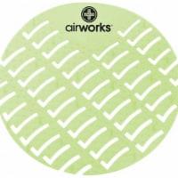 "Air Works Urinal Screen,Round,Herbal Mint,PK60 HAWA AWUS002 - 6-7/8"""