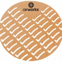 "Air Works Urinal Screen,Round,Cinnamon,PK60 HAWA AWUS006 - 6-7/8"""
