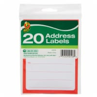 Duck 3-1/2 in. W x 4-1/2 ft. L Address Labels - Case Of: 12; Each Pack Qty: 20; Total Items - Case of: 12