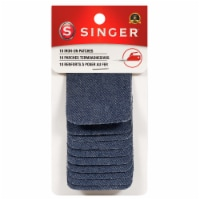SINGER® Iron-On Blue Denim Patches - 10 Pack - 2 x 3 in