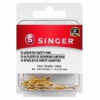 SINGER Brass Safety Pins - 50 pk