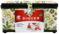 Singer Large Sewing Basket Kit 127pcs-Nature's Floral - 1