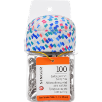 SINGER Safety Pins in Jar - 100 pk