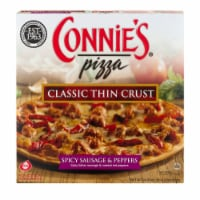 Connie's 11-Inch Spicy Sausage & Peppers Classic Thin Crust Frozen Pizza