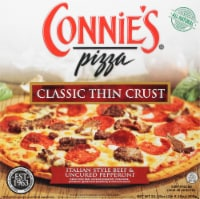 Connie's Classic Thin Crust Italian Style Beef & Uncured Pepperoni Pizza - 21.15 oz