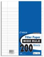 Top Flight Wide Rule Filler Paper - 200 Sheets